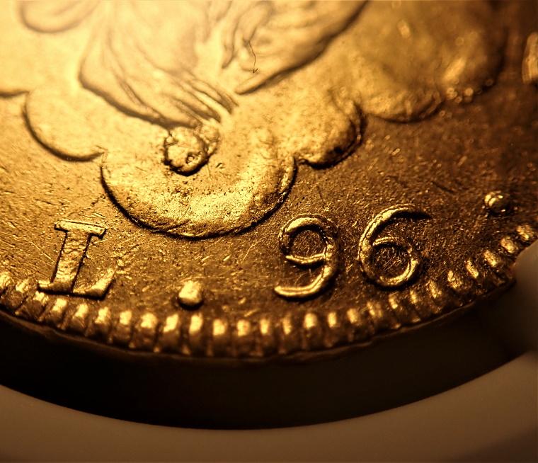 現イタリア、ジェノバで1793年に発行された96リレ金貨(単独最高鑑定)、Fr-444、KM-A251