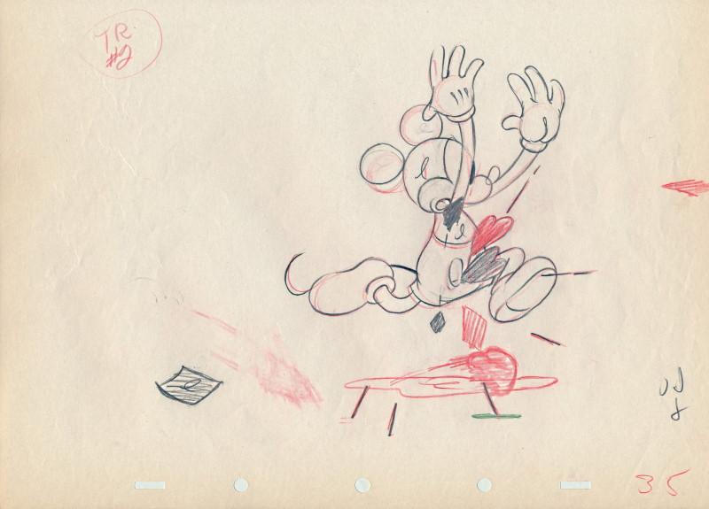 「スルー・ザ・ミラー、ミッキーマウス」に使われたドローイング-1