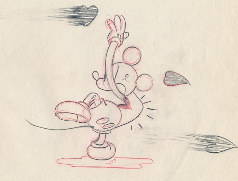 「スルー・ザ・ミラー、ミッキーマウス」に使われたドローイング-2