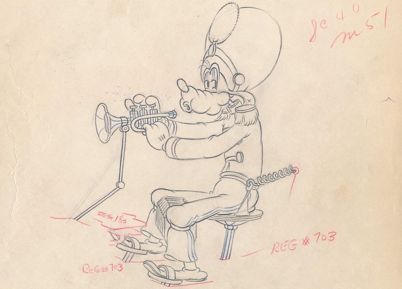 「ミッキーのアマチュア・コンサート」に使われたドローイング