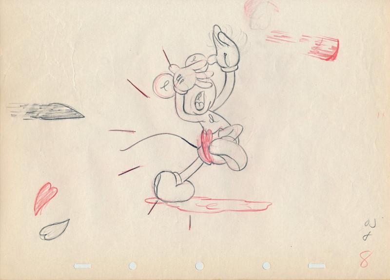 「スルー・ザ・ミラー、ミッキーマウス」に使われたドローイング-3
