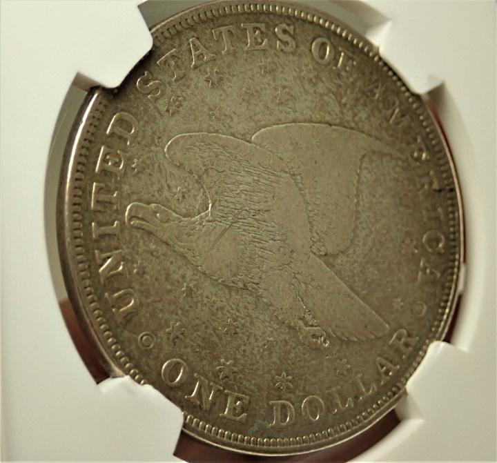 アメリカで1836年に発行された1ドル銀貨、通称「ゴブレクトダラー」裏面星ありタイプ、KM-59.1/Judd-60