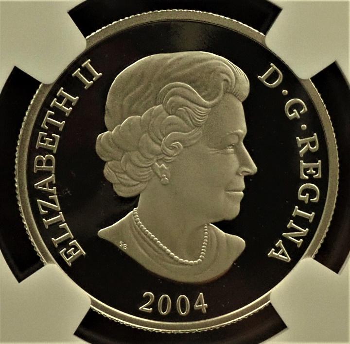 2004年にカナダで発行されたプラチナ・プルーフ貨の4枚セット「灰色ぐま」