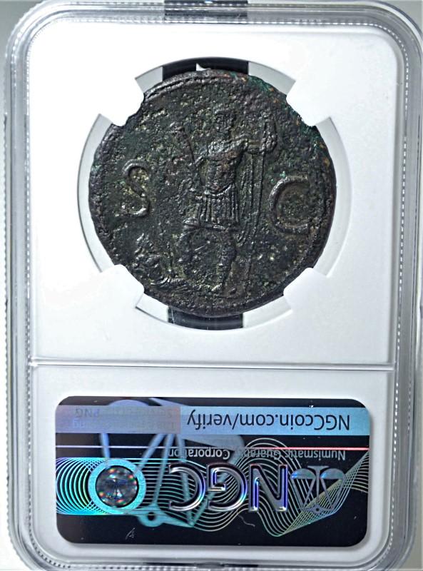 帝政ローマ、ドミティアヌス(在位AD81-96年)統治下で発行されたセステルティウス貨