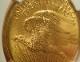アメリカで1924年に発行された20ドル金貨、通称「セントゴーデンス」