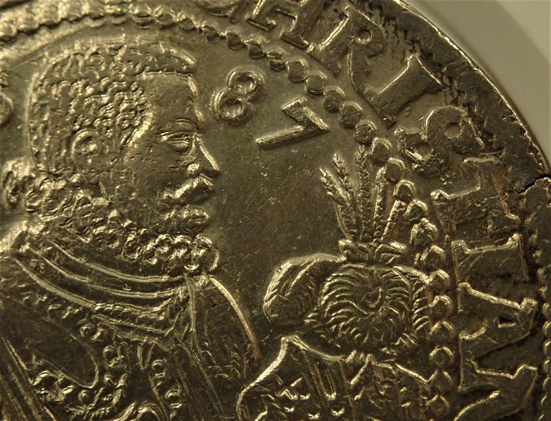 ザクセン・アルベルティンで1587年に発行された初期ターレル、単独最高鑑定、Dav-9806