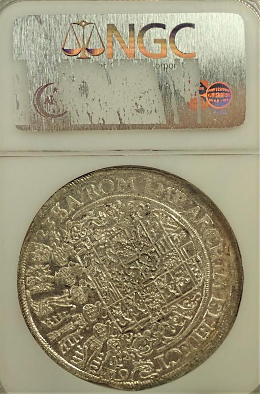 ドイツで1623年に発行された1ターレル銀貨、KM-132