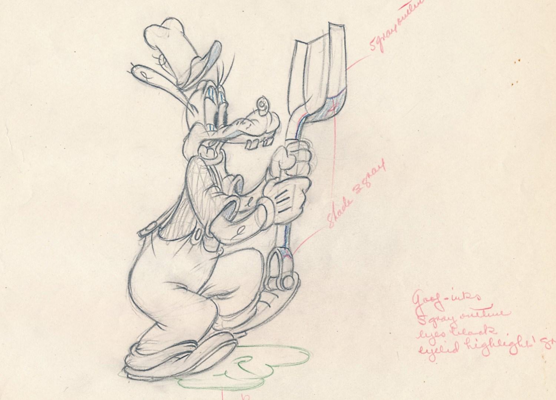 「ミッキーの船長さん」ので使われたドローイング