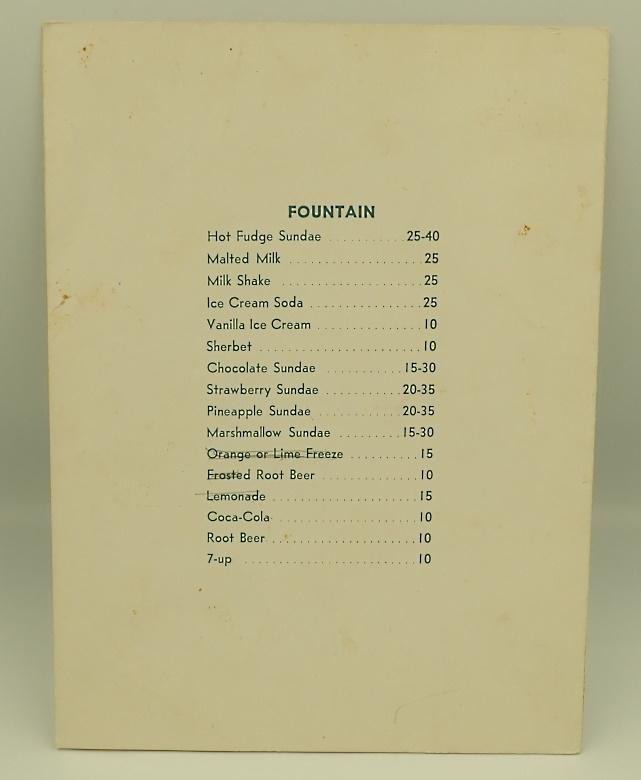 ウォルト・ディズニー・スタジオのレストラン/コーヒーショップのメニュー3点セット