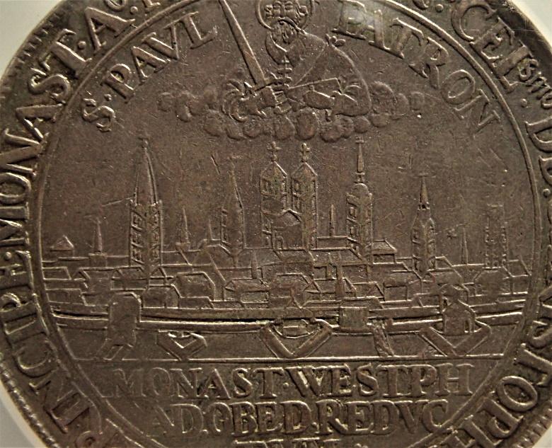 ミュンスターの都市景観2ターレル、1661年発行、KM-79