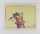 「Micky and the Beanstalk(ミッキーのジャックと豆の木)」のドナルドのストーリーボード(Homer Brightmanのサイン入り)