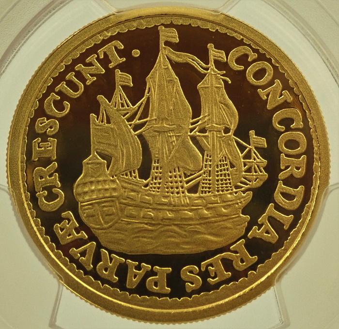 王立オランダ造幣局、2021年発行シップシリングのピエフォー金メダル
