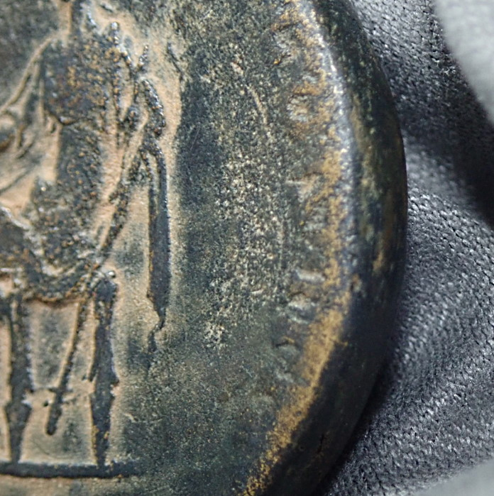 『触れて楽しむ古代コインシリーズ』 帝政ローマ、アントニヌス・ピウス(在位AD138-161年)統治下に発行された、セステルティウス銅貨