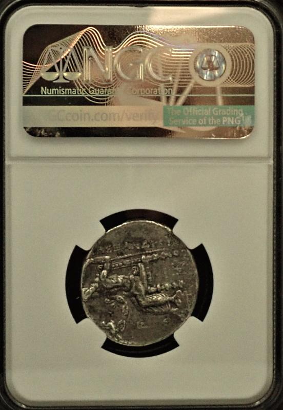 古代マケドニア、アレキサンダー大王のテトラドラクマ銀貨