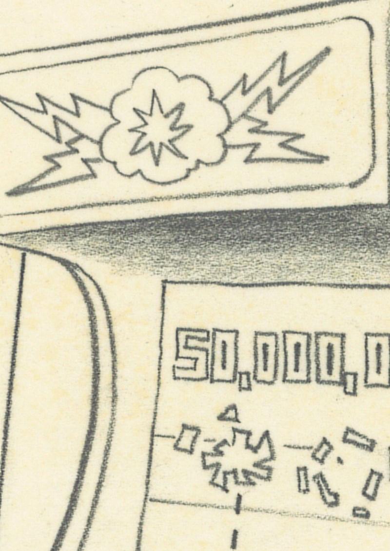 「グーフィーとマックスのゲーム」の下絵原画