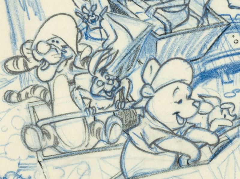 Winnie the Poohシリーズ に使われた挿絵の下描き原画
