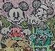 """テレビ番組「ミッキーマウス、生誕40周年記念ショー」のために制作された""""手彩色モデルプリント"""""""