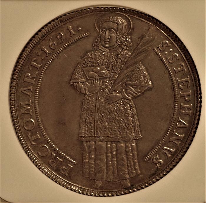 ドイツのハルベルシュタット,1691年のターレル、KM-85