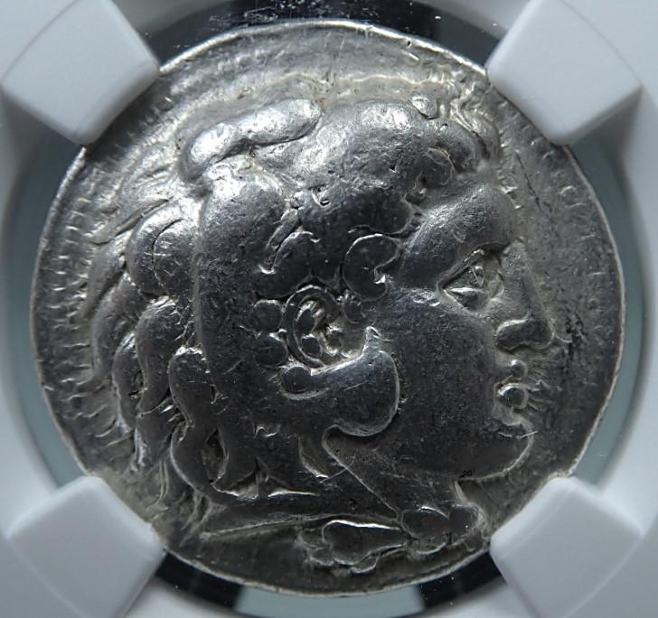 古代マケドニア、セレウコス朝セレウコス1世時代発行のテトラドラクマ銀貨