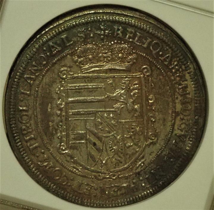 神聖ローマ、レオポルト5世の1ターレル1623年最高鑑定、KM-257-1/Dav3345
