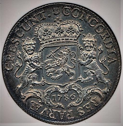 オランダ本国で1786年に造られたデュカトーン