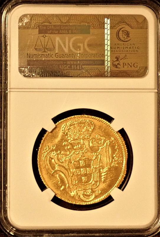 ブラジルで1758年6400レイス、ホセ1世(ジョゼ1世)、バイーヤ鋳、第2位鑑定、KM-172.1