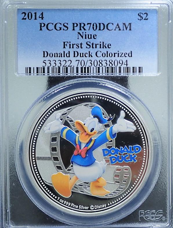 ニウエ発行/ ディズニー2ドル、1ドルのカラー銀貨 /4枚セット