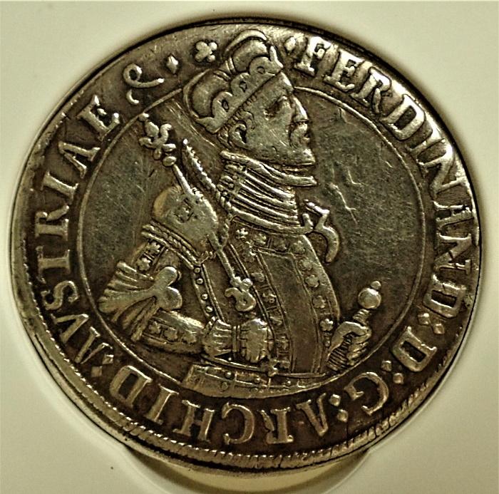 オーストリア、1500年代の3ターレル、フェルディナンド大公、珍品Dav-A8096