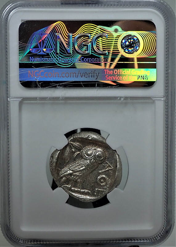 古代ギリシャのテトラドラクマ銀貨「ふくろう君」、紀元前440-404年