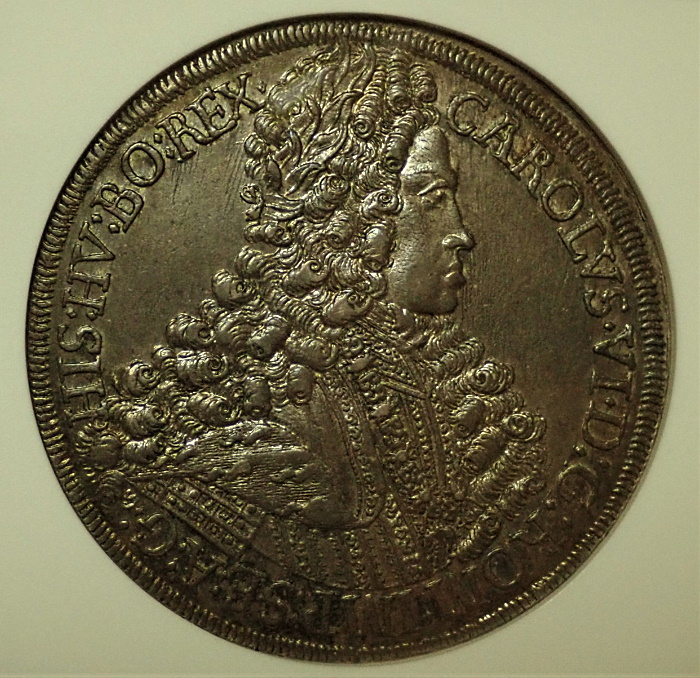 オーストリアで1713年に発行された1ターレル、KM-1552ハル鋳