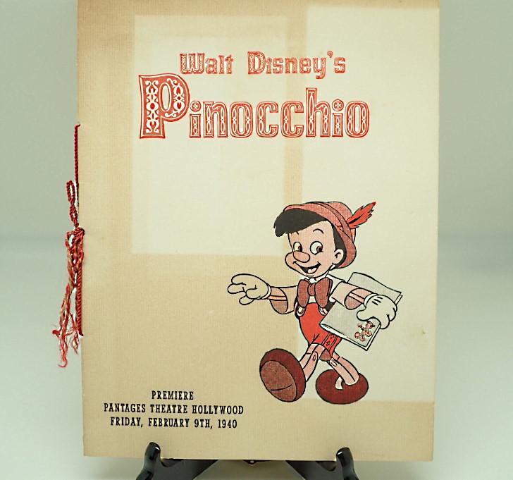 生誕80周年!映画「ピノキオ」のプログラム小冊子