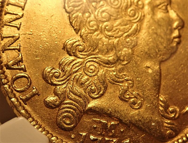 ブラジル1731年、12,800レイス金貨、フォアン5世Mミント、KM-139