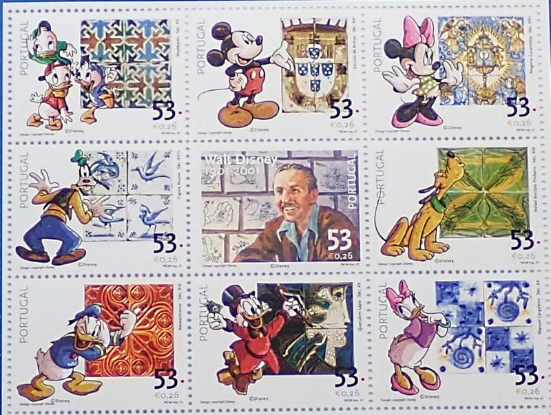 ウォルト・ディズニー生誕100周年記念切手のデザイン原画(切手額装のおまけつき)