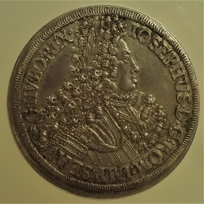 オーストリア2ターレル1705年発行、ヨーゼフ1世、KM-1445