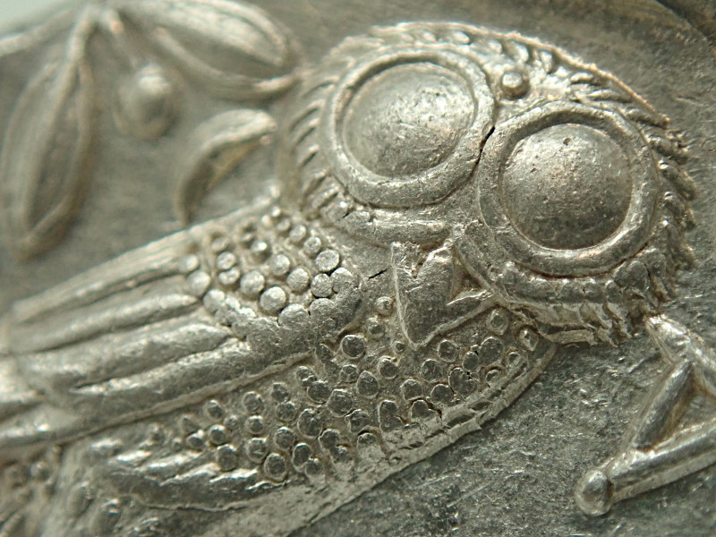 古代ギリシャ、「表アテナ神、裏ふくろう君」紀元前440〜404 年