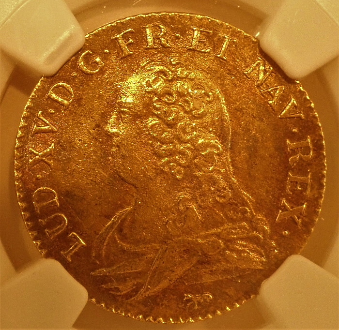 フランス、ルイ15世(在位1715年-1774年)時代の1ルイ・ドール
