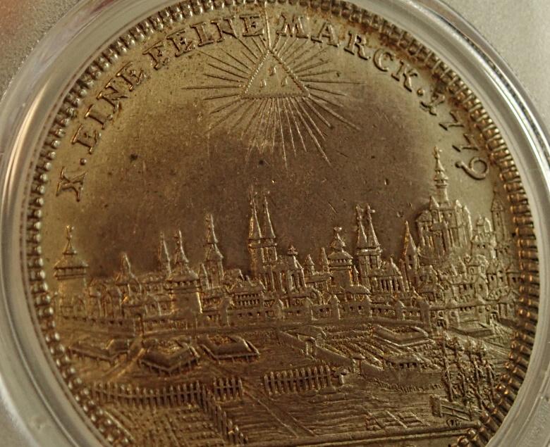 ドイツのニュルンベルグで1779年に発行された1ターレル、KM-351