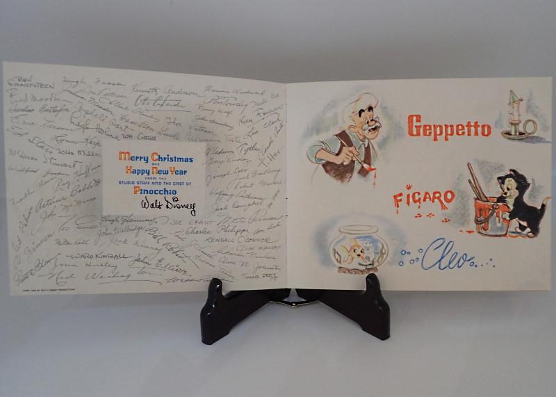 生誕80周年!映画「ピノキオ」のプロモーション用グリーテイングカード