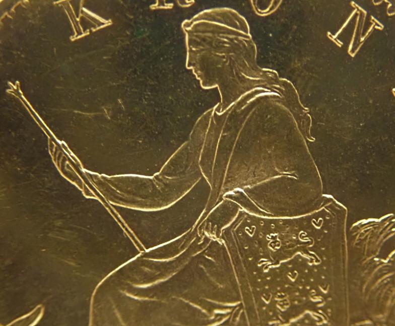 デンマークで1876年に発行された20クローネ金貨、クリスチャン9世