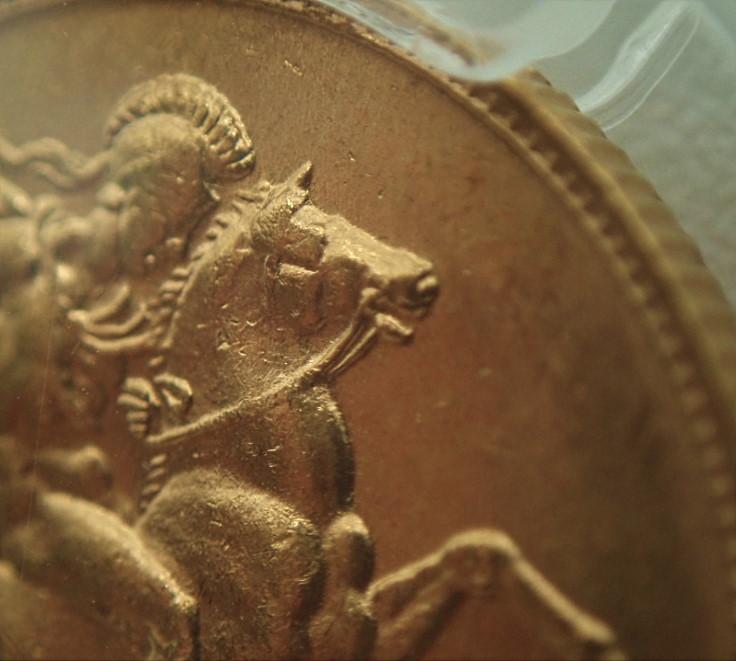 オーストラリアで1910年に発行されたエドワード7世のソブリン金貨