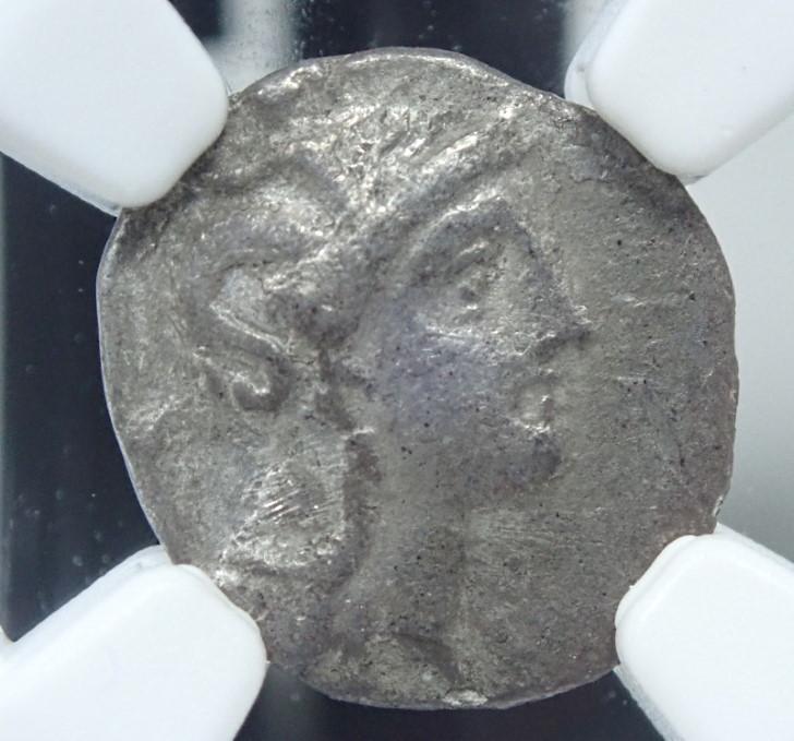 古代カラブリア、ディボル銀貨、紀元前4世紀前後