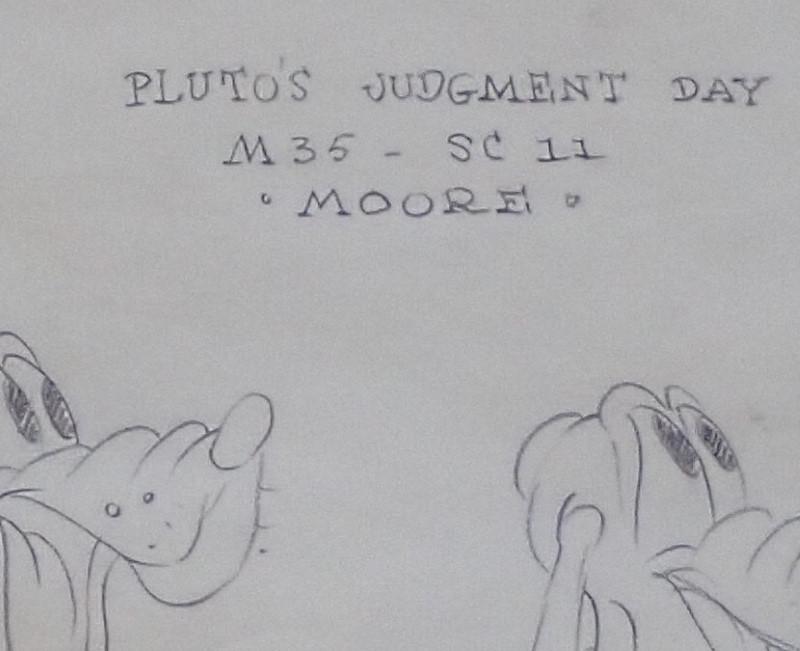 1935年に上映されたディズニー映画「プルートの審判の日」で作られたプルートのモデルシート