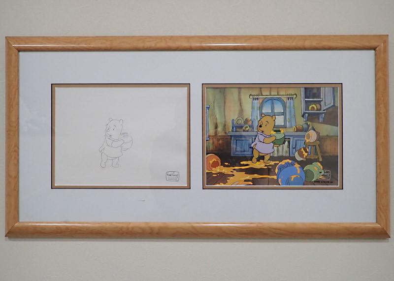 くまのプーさんのセル画とドローイング