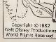ミッキーマウスの3コマ漫画の原画2点セット
