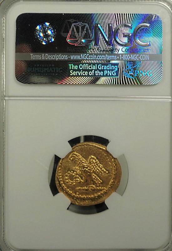 スキタイ人の国トラキアで造られたスターテル金貨(BC54年以前)