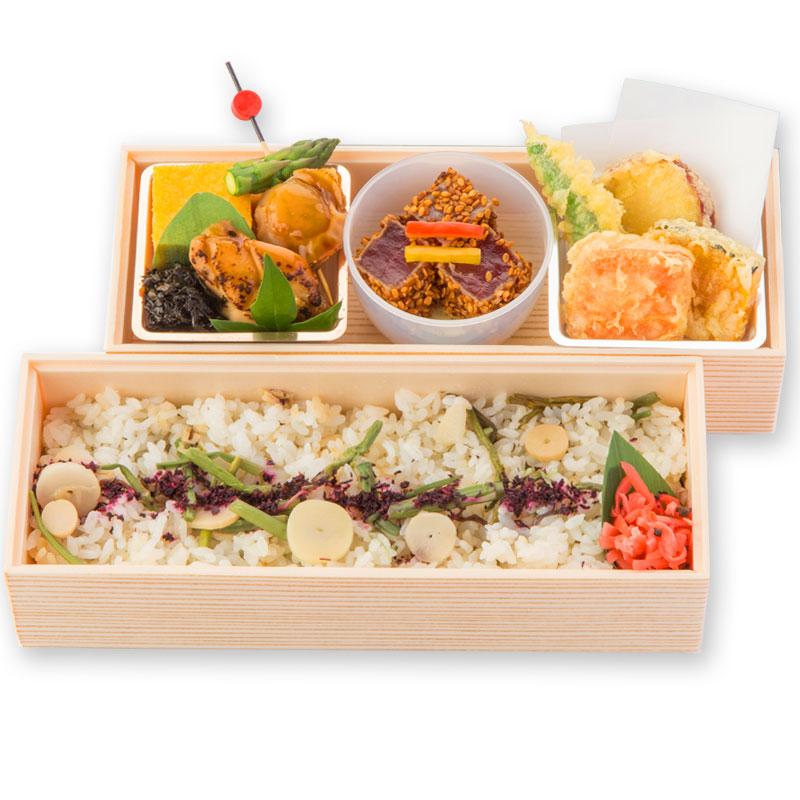 (仕出し弁当)山菜マグロごま醤油漬弁当/さんさいごましょうゆづけべんとう