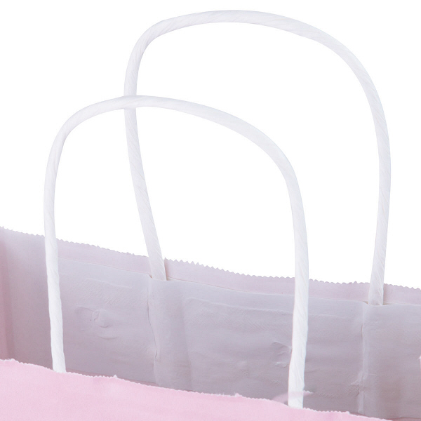 ピンク紙手提げ袋(幅260mm×高さ280mm×マチ幅100mm)