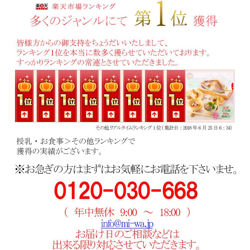 (通信販売)お食い初め 料理セット【ももかブルー│全国通販可能-東京近郊以外-】