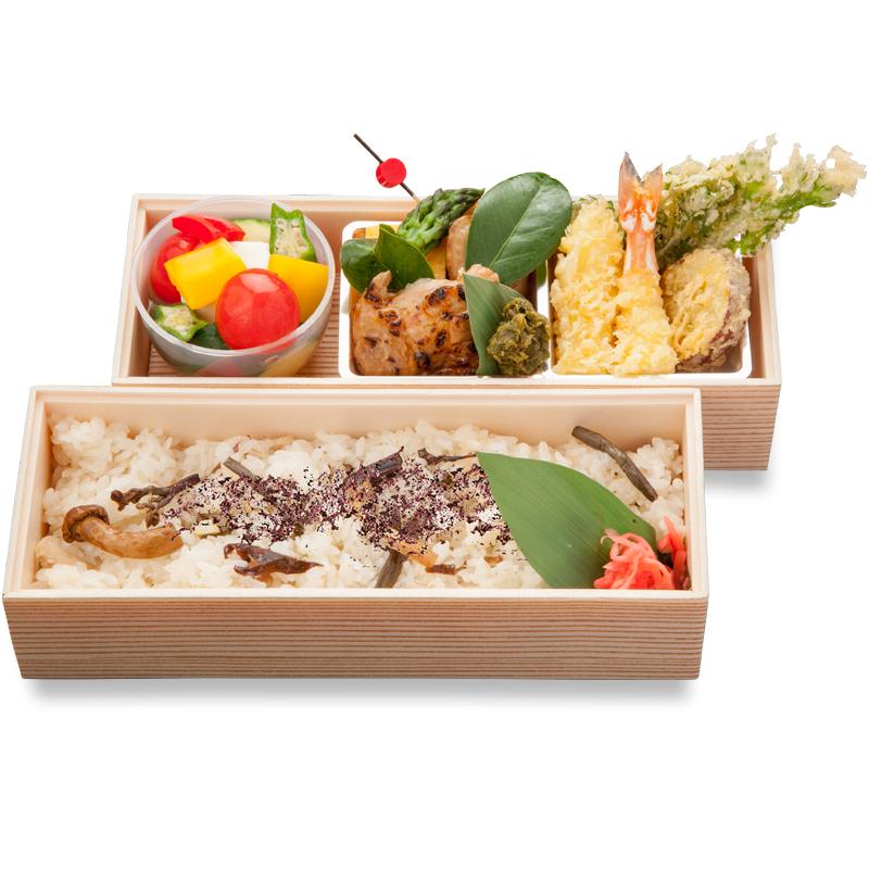 (仕出し弁当)山菜ゆかり二段弁当/さんさいゆかりにだんべんとう