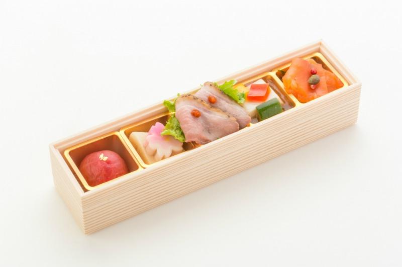 (仕出し弁当)文箱BOX(手毬寿司&手毬天むす)